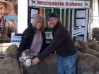 carol-hale-and-andrew-campbell-burnbank-dohne-stud-mooralla-vic-with-their-private-purchase-of-md15-1267-at-the-2016-hamilton-sheepvention
